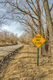 Road May Flood Sign Stock Image