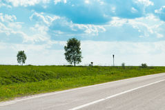 Road and the meadows Royalty Free Stock Images