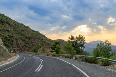 Road in the mediterranean mountains Royalty Free Stock Images