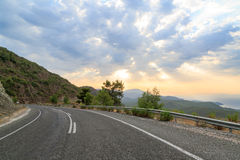Road in the mediterranean mountains Stock Images