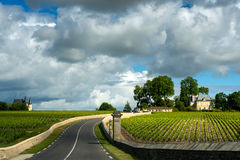 A road of Medoc Royalty Free Stock Photo