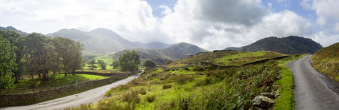 Road meet a junction in English Lake District Royalty Free Stock Photography