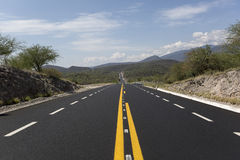 Road through Mexican mountains Royalty Free Stock Photo