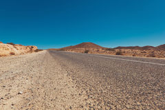Road through the middle of Desert Stock Photography