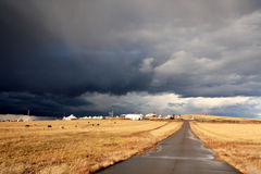 Road in middle of rural Stock Image