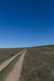 Road in the middle of the steppe Royalty Free Stock Image