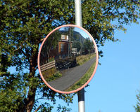 Road mirror Royalty Free Stock Photo