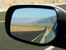 Road in the mirror Death Valley Stock Image