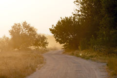 Road in mist Royalty Free Stock Photo