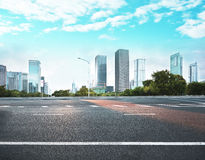 Road in modern city Stock Photo