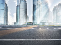 Road in modern city Royalty Free Stock Photos