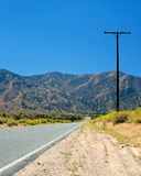 Road in the Mojave desert Stock Photos