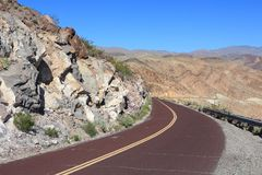 Road in Mojave Desert Royalty Free Stock Image