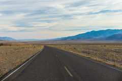 Road through Mojave desert Royalty Free Stock Photo