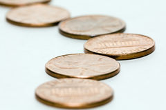 Road from money. Road combined from the American coins of cost in one cent (penny Stock Images