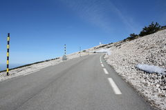 Road in Mont Ventoux, France Royalty Free Stock Images