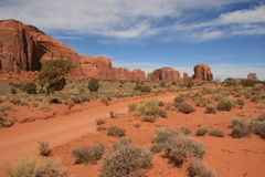 Road in Monument Valley Stock Image