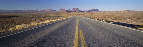 Road through Monument Valley, Royalty Free Stock Images