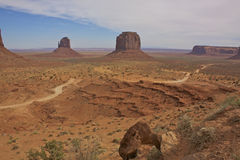 Road Through Monument Valley Royalty Free Stock Image