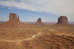 Road Through Monument Valley Royalty Free Stock Photo