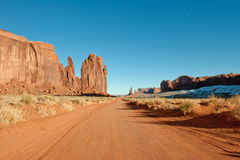 Road through Monument Valley Stock Image