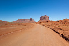 Road in Monument Valley Royalty Free Stock Images