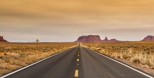 Road into Monument Valley Royalty Free Stock Photo