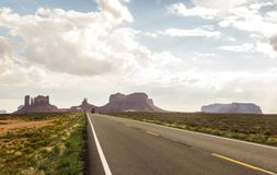 On the Road Monument Valley panorama - Arizona, AZ Royalty Free Stock Images