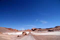 Road through the Moon Valley Royalty Free Stock Photo