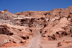 Road through the Moon Valley Royalty Free Stock Image