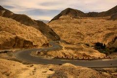 Road on the moon. The road in Zanskar Valley royalty free stock photos