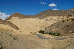 The road at Moonland  in Lamayuru, Leh, Ladakh, India Stock Photography