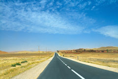 Road on Moroccan suburbs Royalty Free Stock Image