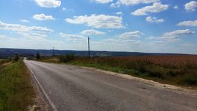 Road in Moscow region. Beautiful landscape and road ner Moscow Stock Photo