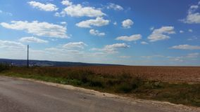 Road in Moscow region. Beautiful landscape and road ner Moscow Stock Photos