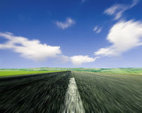Road with Motion Blur Royalty Free Stock Images