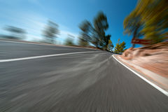 Road with a motion blur Royalty Free Stock Image