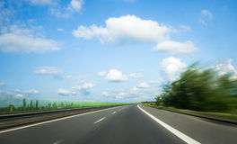 Road with motion blur Royalty Free Stock Photos