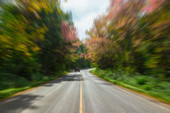 Road in motion blur. Stock Image