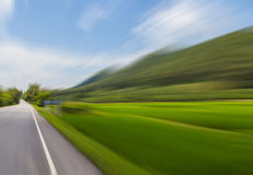 Road in motion blur effect Royalty Free Stock Photography