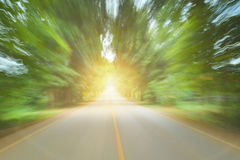 Road in motion blur light concept faster to goal success Stock Images