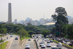 Road motion in Sao Paolo, Brazil. Road motion in the center of Sao Paolo, Brazil Royalty Free Stock Photo