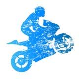 Road motorbike rider. Wheelie Stock Photography