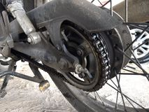 Road motorcycle chain wheel royalty free stock photography
