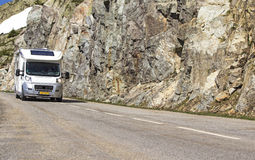 Road, with motorhome. Royalty Free Stock Photo
