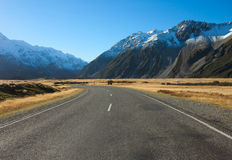 Road in Mount Cook National Park. Royalty Free Stock Photography