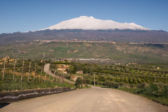 Road for mount Etna Stock Images