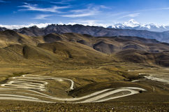 The Road of Mount Everest Royalty Free Stock Image