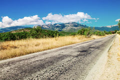 Road mountain Stock Images