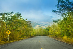 Road on mountain. In Thailand Royalty Free Stock Photography